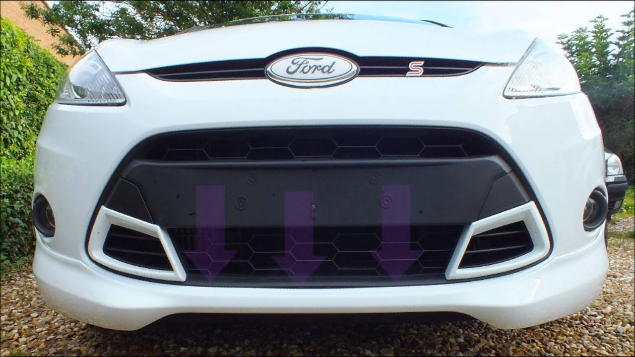 Ford Fiesta Mk7 2008 Present Grill Removal Swap Asian