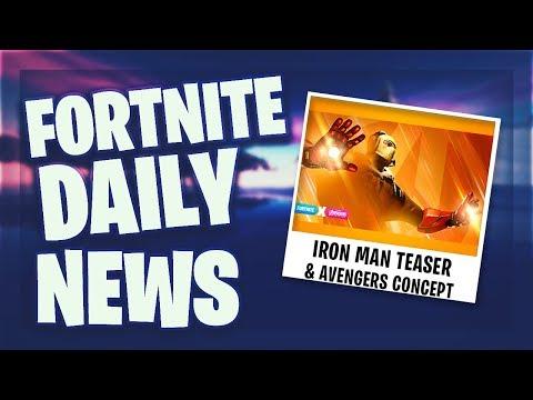 iron man teaser avengers challenges concept fortnite daily news 23 april 2019 - iron man concept fortnite