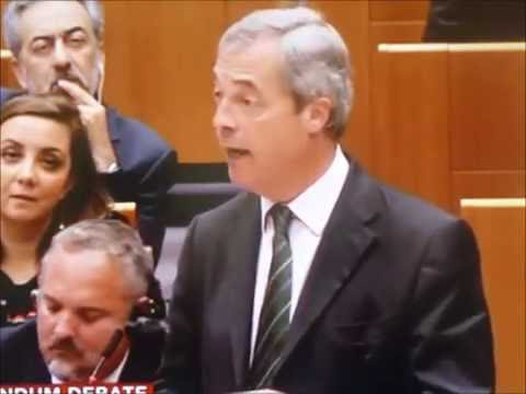 Nigel Farage is back! Post Brexit in Brussels. Into the Lions den. Brilliant