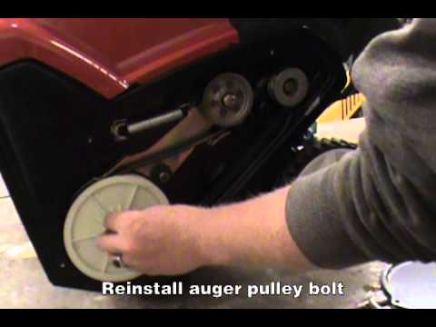 Replacing the Drive Belt - Toro Single Stage Snow Blower