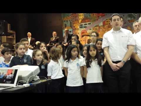 Lord Jonathan Sacks and Harkham Hillel Hebrew Academy Choir (Feb 21,2014)