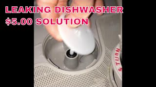 Leaking Dishwasher -- $5.00 Solution -- Replace the Seal