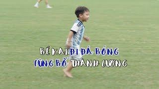 Con trai Thành Lương được dàn cầu thủ Hà Nội cưng chiều hết cỡ