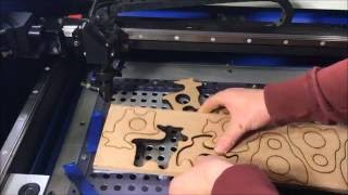 How to cut through double the thickness. Using 50W Chinese Laser Cutter