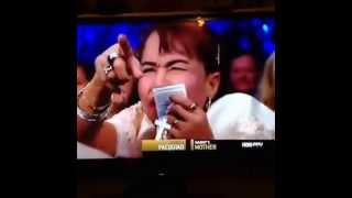 Aling Dionisia goes wild during Pacquiao vs Bradley II!
