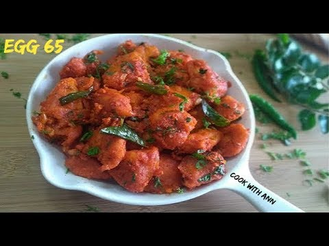 Egg 65 Recipe | Egg 65 | Simple And Easy Egg Snack Recipe | Street Style Egg 65 Recipe Video