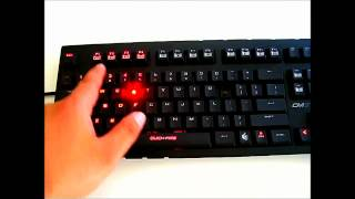 CM Storm QuickFire Pro (Cherry MX Brown switch) Gaming Keyboard Overview