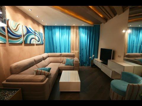 Интерьер зала в хрущевке 18 кв.м фото с балконом