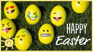 DIY   Emoji, Galaxy & Marble Easter Eggs!