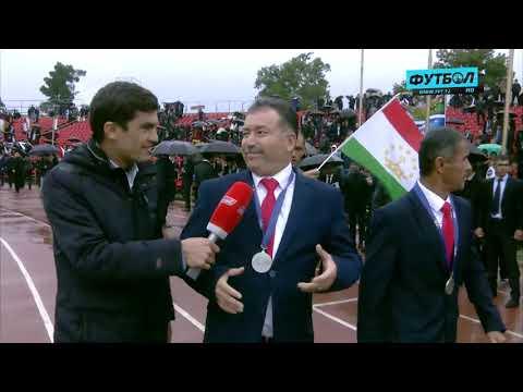 Встреча юношеской сборной Таджикистана на стадионе Фрунзе
