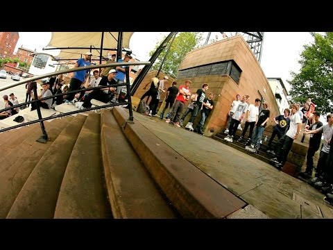 Last weekend Alex Burston hosted the MCR Street Jam at Manchester's Castlefield Arena. With some of the years worst storms hitting the UK the two nights before the jam was destined to be affected by the wet. That said, a good turn out of bladers from around the country ensured that the jam wouldn't be a wash out.  Featuring tricks from James Bower, Ollie Jones, Sam Crofts and Carson Starnes.  Filmed by Scott Hallows and Tim Darker.  Be sure to subscribe to our channel for more original blading content. http://www.youtube.com/user/thebootedones  Follow us...  SITE: http://www.thebooted.com  FACEBOOK: http://www.facebook.com/thebooted  INSTAGRAM: http://www.instagram.com/thebooted  TWITTER: http://www.twitter.com/thebooted  TUMBLR: http://thebooted.tumblr.com