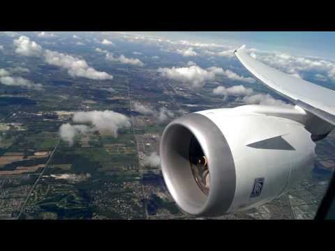 LOT Dreamliner 787 landing at Toronto Pearson Int'l Airport *Business Class*