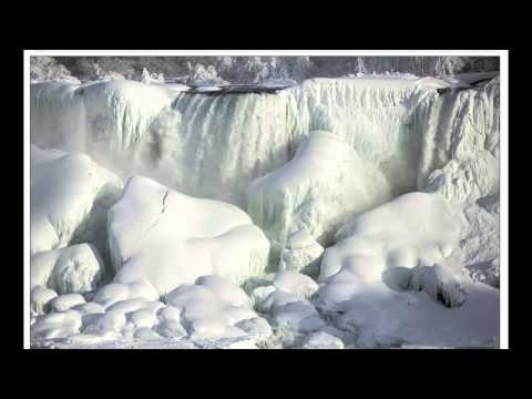 Niagara Falls has frozen over as extreme winter weather