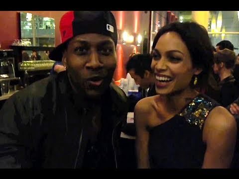 Rapping with Rosario Dawson!