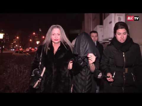 Milica Dabović posle saslušanja u policiji