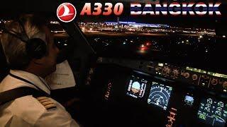Piloting the TURKISH AIRLINES Airbus A330 into BANGKOK Suvarnabhumi