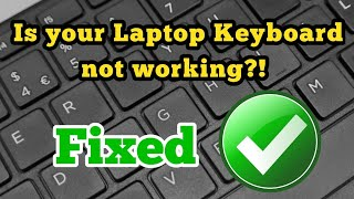 Laptop Keyboard issue not Working / typing - Fix Keys of laptop Keyboard without Replacement