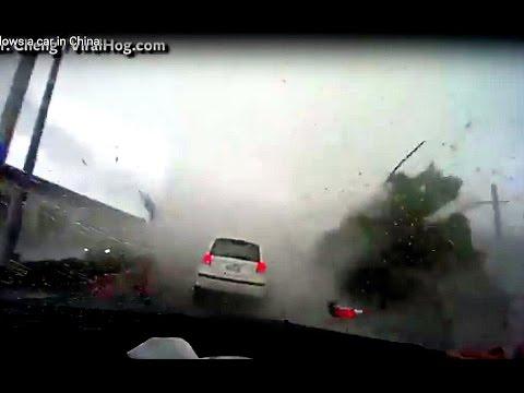 Tornado Swallows A Car In Taiwan