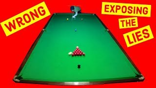 Snooker Mistakes People don't know they're making