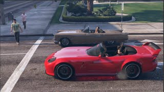 GTA 5 Slidey Cars Drifting Banshee RED LIGHT!
