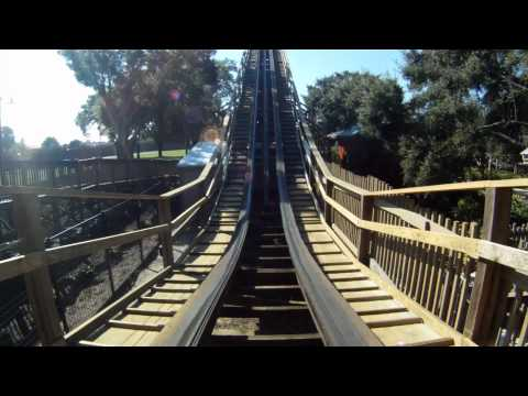 Coastersaurus Wooden Roller Coaster POV Front Seat Legoland Florida On-Ride