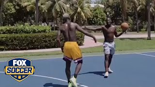 Paul Pogba and Romelu Lukaku hit the basketball court | FOX SOCCER