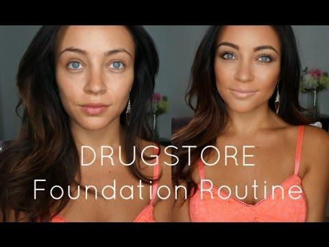 DRUGSTORE Foundation Routine!