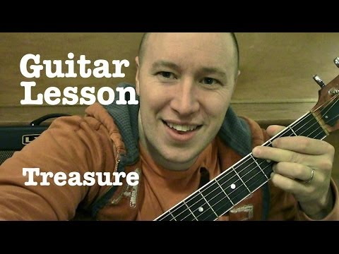Treasure- Guitar Lesson- Bruno Mars (Todd Downing)