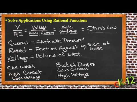 Solve Applications Using Rational Functions: A Sample Application