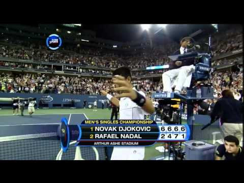 Novak Djokovic: Nadal US open 2011 final point