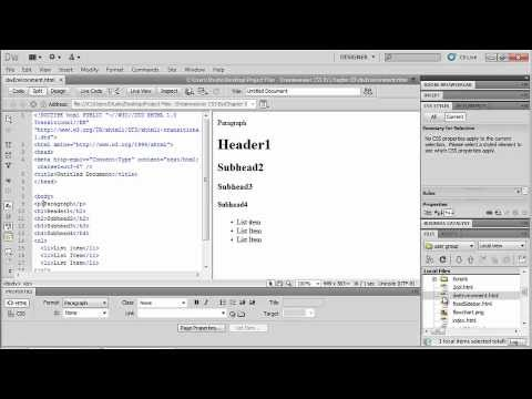 Dreamweaver CS5. Tutorial. Creating your first websaite (4 of 6).wmv