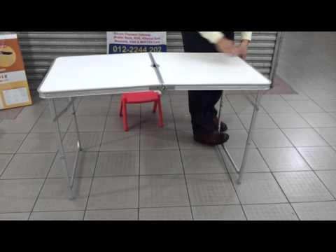 Portable Aluminium Table (Fold-able & Adjustable)