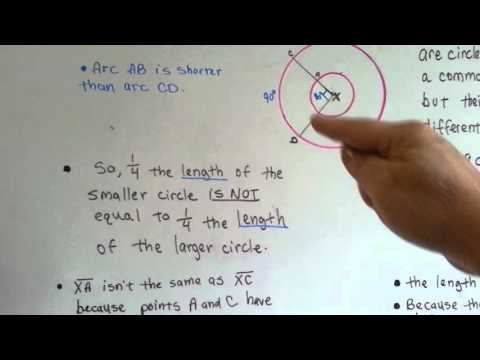 Concentric Circles, Radius, Arc (Geometry #197)