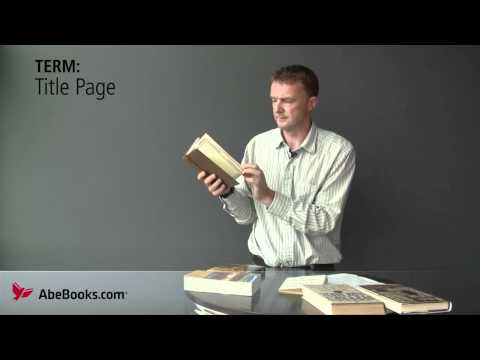 If you have ever been confused by the jargon used to describe the physical parts of a book, then this video will help. We explain and demystify a series of t...