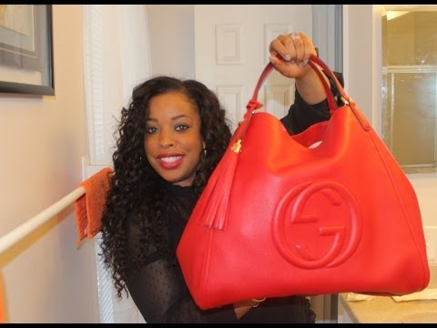 Gucci Red Soho Shoulder Bag 114