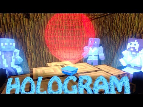 Minecraft | HOLOGRAMS MOD Showcase! (RANDOM MOD, HOLOGRAM MOD)