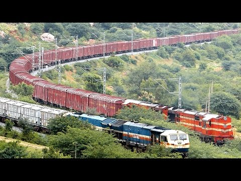 EMD Vs ALCo INDIAN RAILWAYS  Freight Train beauty