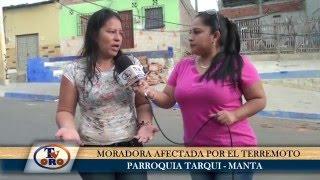 DESDE LA PARROQUIA DE TARQUI EN MANTA - TV ORO CANAL 2 EN LA ZONA CERO