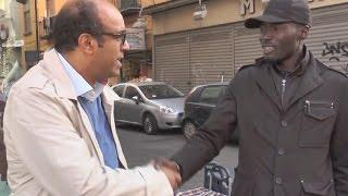 Napoli | il senso civico di Ibra, un cittadino senegalese.