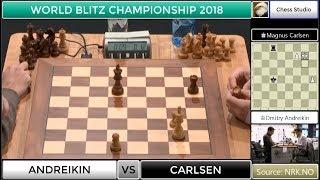 INCREDIBLE ESCAPE!!! CARLSEN VS ANDREIKIN | WORLD BLITZ CHAMPIONSHIP 2018