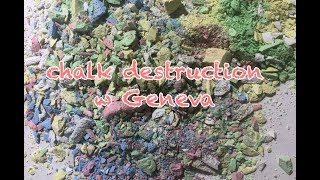 chalk destruction (asmr) w Geneva
