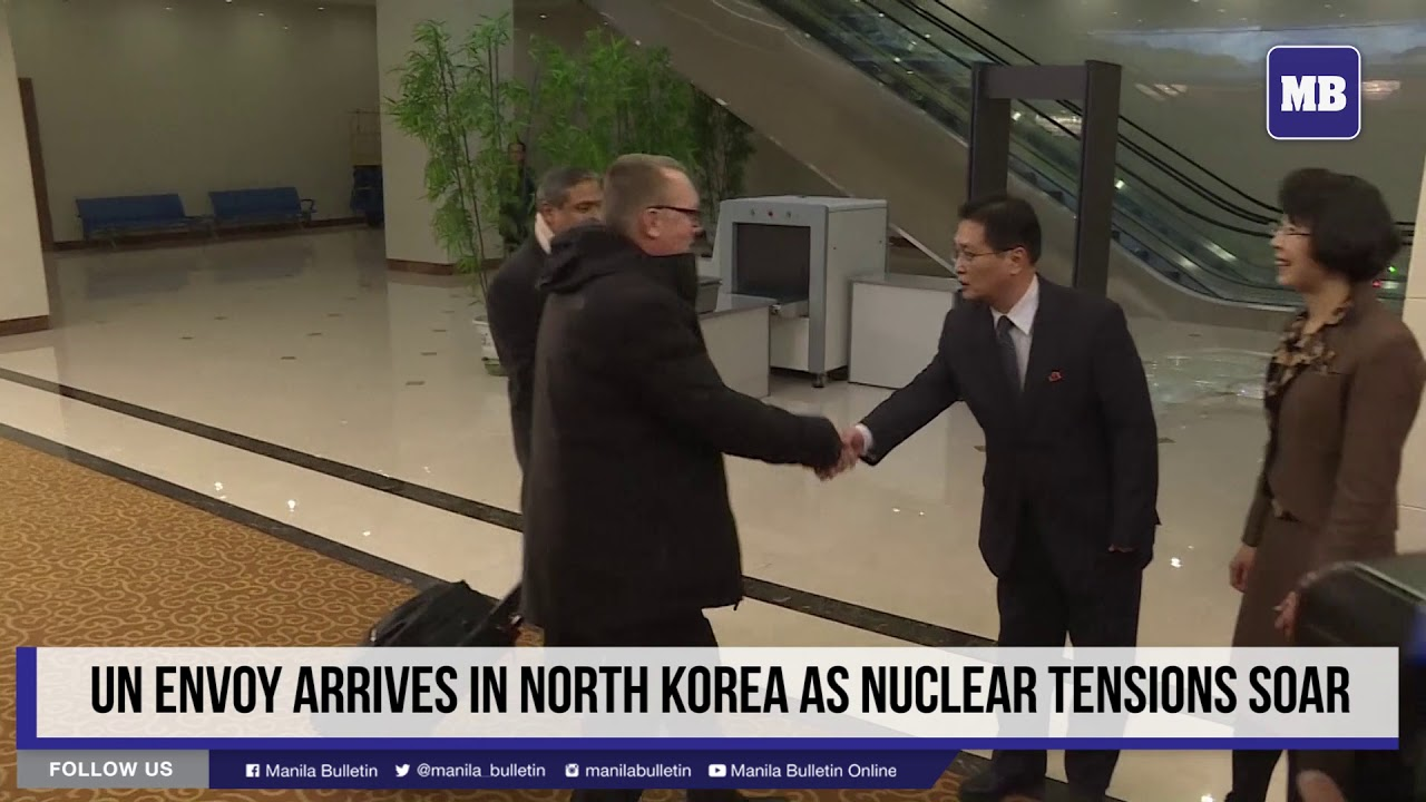 UN envoy arrives in North Korea as nuclear tensions soar