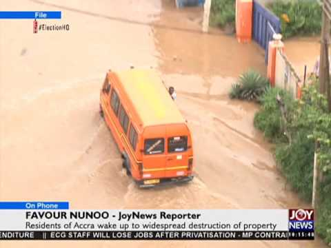 Accra floods - News Desk on Joy News (10-6-16)