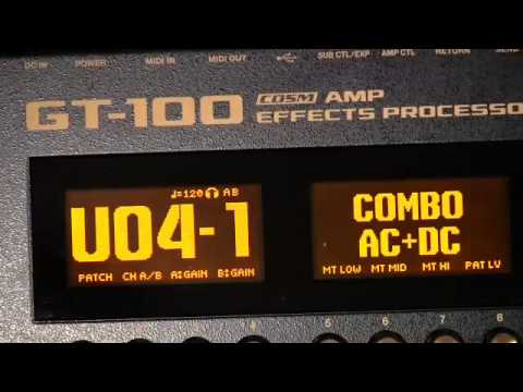 Boss GT 100 -200 Presets Demo Part 1 of 4