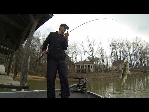 Spring bass fishing on Lake Norman