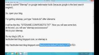 How To Submit SiteMap of Blogger's Blogspot on Google Webmaster Tools