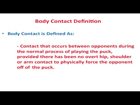 B: Body Contact in Youth Hockey