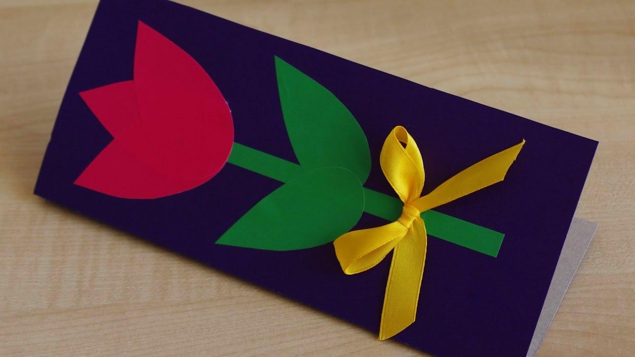 Подарок бабушке из цветной бумаги