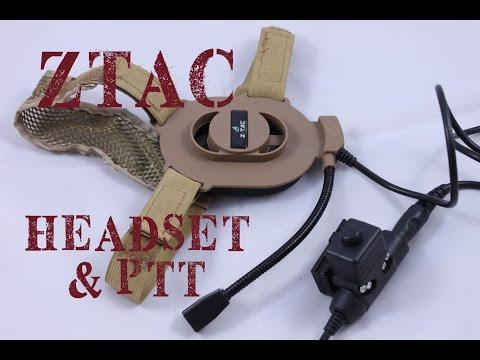AIRSOFT   REVIEW   TBC   ZTAC Elite II Headset for Kenwood radio ( ENGLISH SUBS )