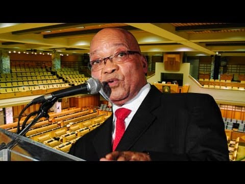 President Jacob Zuma replies to questions in the National Assembly